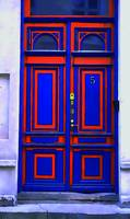 Blue and Orange Door
