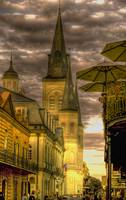 Cathedral and Umbrellas at Jackson Square