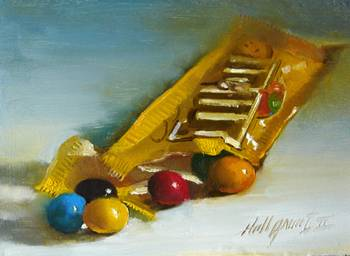 m&m's Chocolate Candy by artist Hall Groat II. Giclee prints, art prints, a still life, fine art print; from an original oil painting