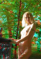 nude girl in trees 3D