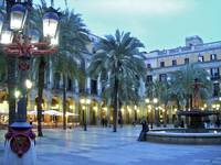 Placa Reial at Dusk by Paul Gaither