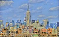 New York Skyline from Brooklyn Bridge by Paul Gaither