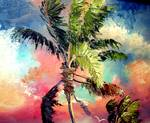 Palette knife Palm Tree by Mazz Original Paintings
