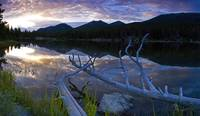 Sprauge lake sunrise panorama