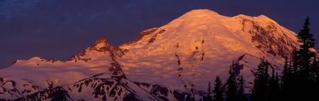 Sunrise on Mt. Rainier's east face