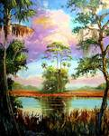 Majestic Florida Landscape Painting by Mazz Original Paintings
