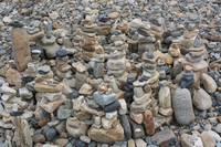 Stacked Rocks on the Beach 2