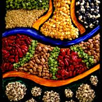 BEANS PEAS RICE Art Prints & Posters by Small Biz Visuals