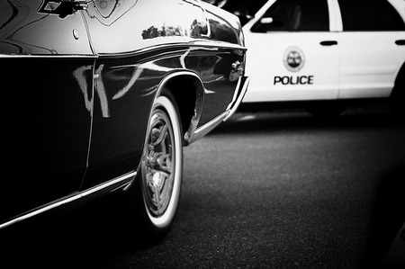 Car Chase by DApixara Black White Photos