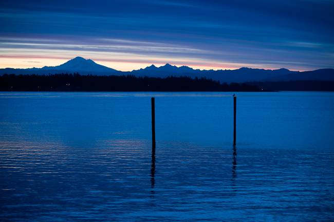 Mt. Baker Sunrise from Lummi Island