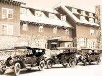 Model T Cars at Crater Lake Lodge