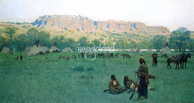 Indian Encampment )1897( by Henry Farny