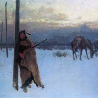 """""""Song of the Talking Wire (1904) by Henry Farny"""" by ArtLoversOnline"""