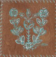Cree Design in turquoise and brown