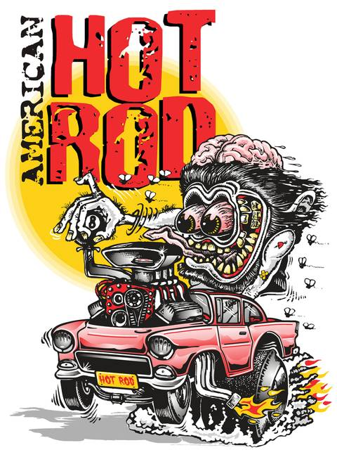 hot rod art prints. american hot rod