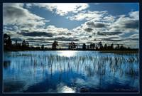 Blue sky and reflections at Liatoppen