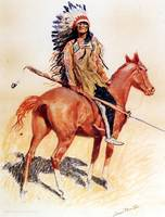 A Sioux Chief (1901) by Frederick Remington