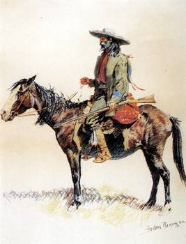 A Trapper 1901 By Frederick Remington By Artloversonline