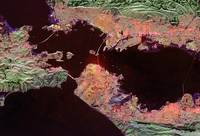 San Francisco from space, on fire by WorldWide Archive