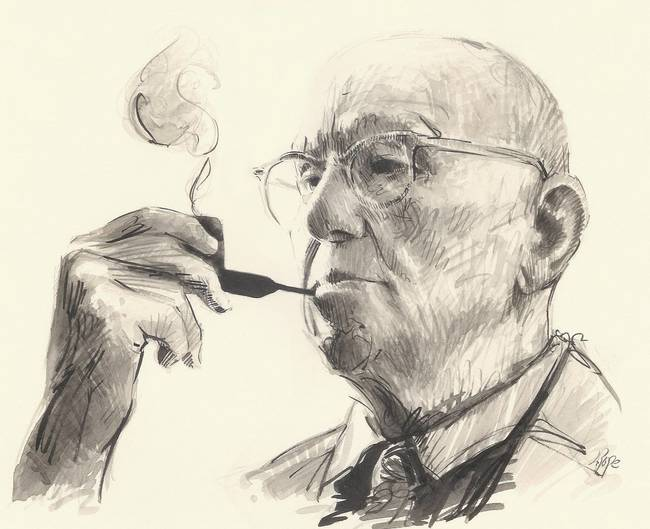 Wodehouse ink sketch