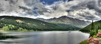 Mountain Reservoir Panorama