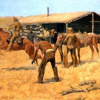 """Coming and Going of the Pony Express (1900)"" by ArtLoversOnline"