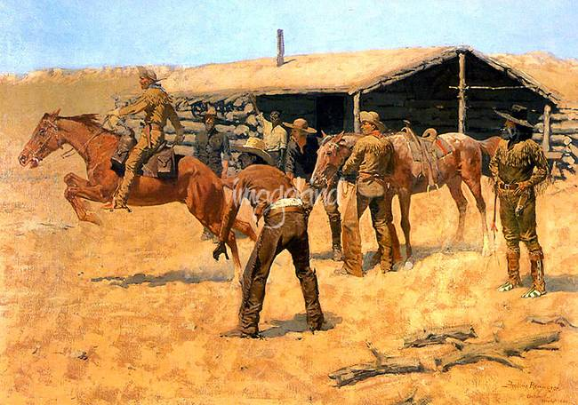 Coming and Going of the Pony Express )1900(