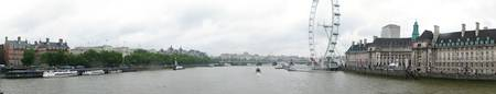 Middle of Thames River Panoramic