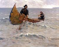 Hauling in the Gill Net by Frederick Remington