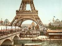 Eiffel Tower, Paris, France c1900 Pictochrome by WorldWide Archive