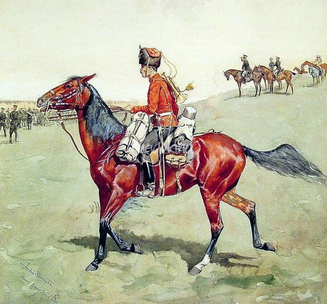 Hussar Russian Guard Corps by Frederick Remington