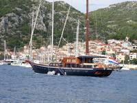 Sailing boat in Hvar