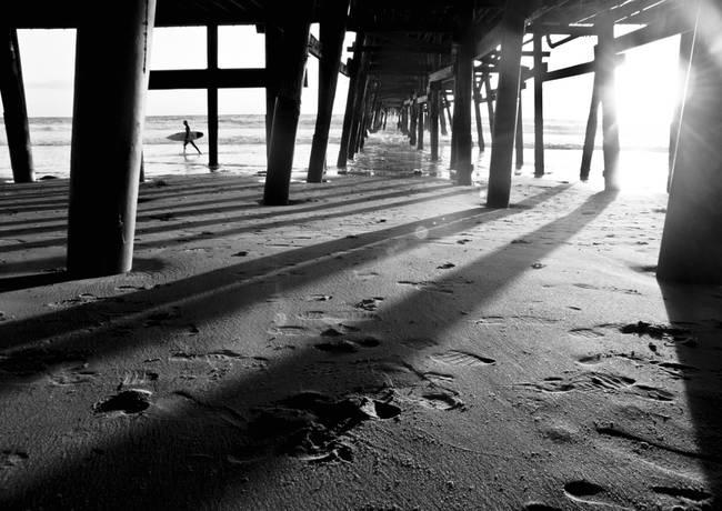 San Clemente Pier Surfer