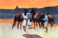 The Shadows at the Waterhole (1907) by Remington