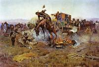 A Bronc to Breakfast (1912) by Charles Russell
