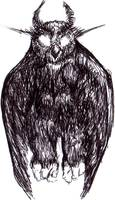 Northern Dark Horned Owl
