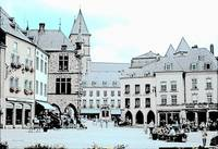 town square, Echternach, Luxembourg
