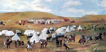 Cowboy Camp During the Roundup (c. 1887)