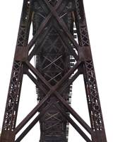 Railroad Trestle Bridge Supports