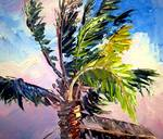 Palm Tree in the Wind by Mazz Original Paintings