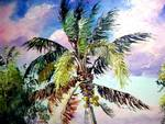Palm Tree Oil Painting by Mazz Original Paintings