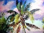 Palm Tree Oil Painting by Mazz Original Paintings