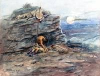 Mourning Her Warrior Dead (1899) by Russell