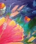 Hibiscus Flower Seed by Mazz Original Paintings