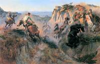 Wild Horse Hunters (1913) by Charles Russell