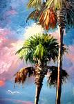 Palm Tree Art by Mazz Original Paintings