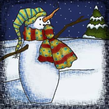 Whimsical Snowman 1 By Jennie Baer