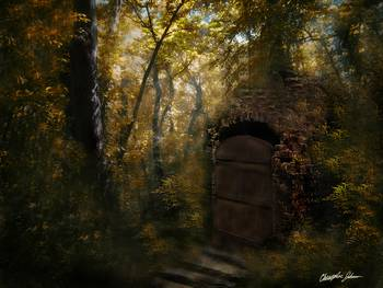 Old Crypt in Autumn by Christopher Johnson