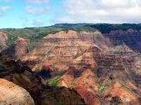 Grand canyon of Kauai mountaintops