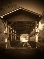 Colvin Covered Bridge Sepia